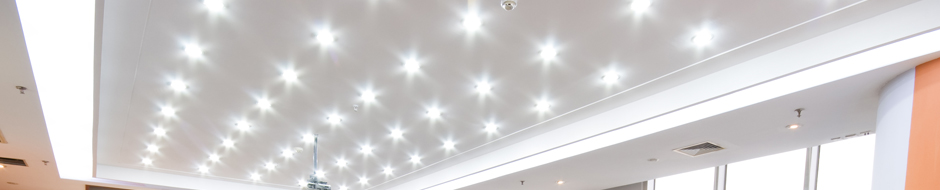 rows of recessed lighting